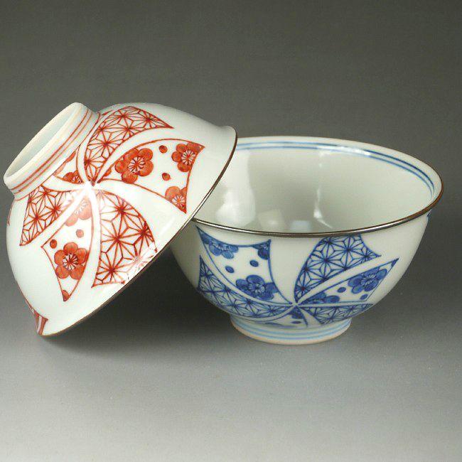京焼  清水焼 花車夫婦茶碗 岩華