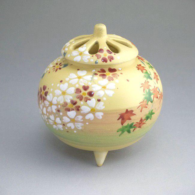 京焼  清水焼 花の香香炉 香菊