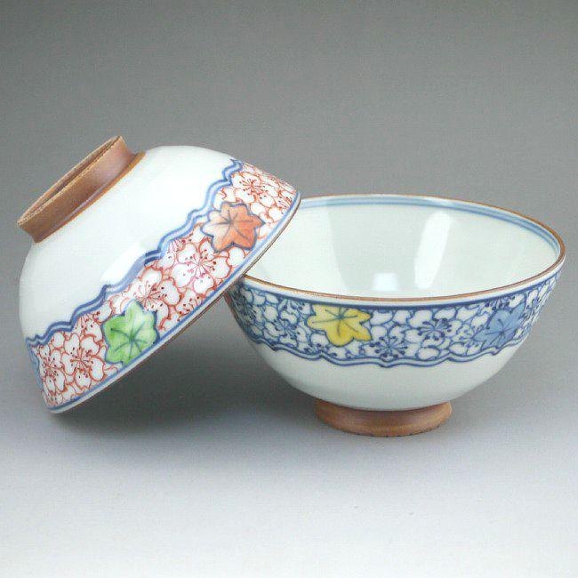 京焼  清水焼 帯雲錦夫婦茶碗 陶遊