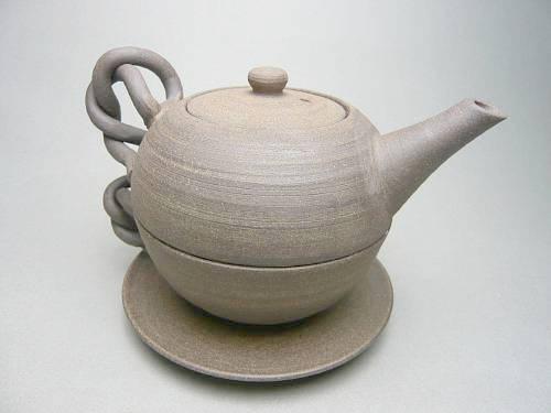 京焼  清水焼 焼締紅茶セット