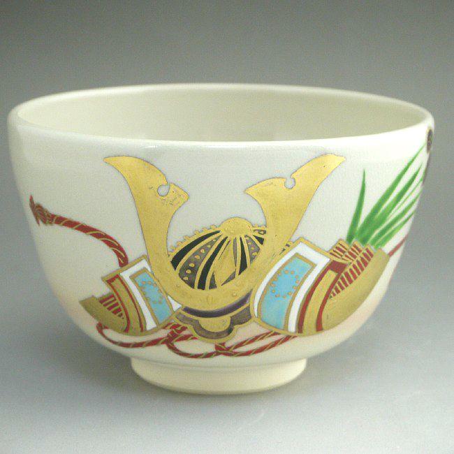 京焼  清水焼 金兜抹茶茶碗 香菊