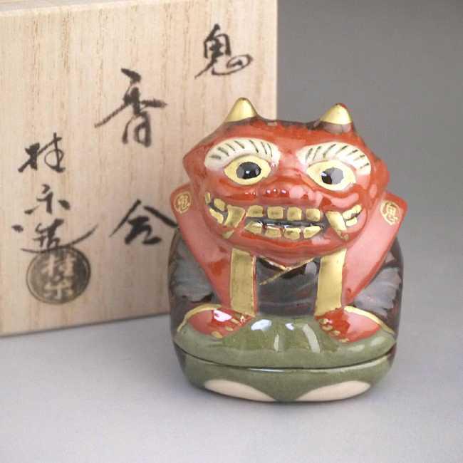 京焼  清水焼 鬼香合 裃 桂楽