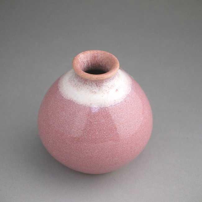 One Kiyomizu ware bean pink