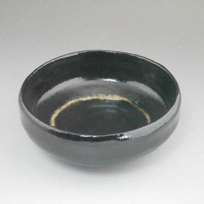 京焼  清水焼 黒平楽茶碗 松楽