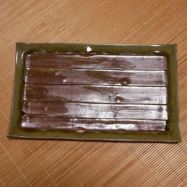 京焼 清水焼 柴焼ビードロ俎板皿 林山