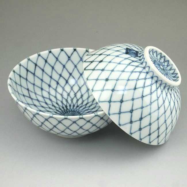 プレゼント贈り物ギフトにおすすめ! 京焼清水焼の網目のおちゃわんの最高級品! 京焼  清水焼 玉網夫婦茶碗