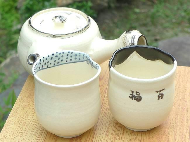京焼  清水焼 お福急須中縦型 茶の間セット