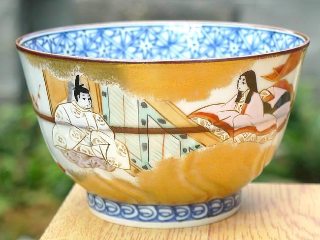 京焼  清水焼 源氏物語お茶呑茶碗 竹河 単品