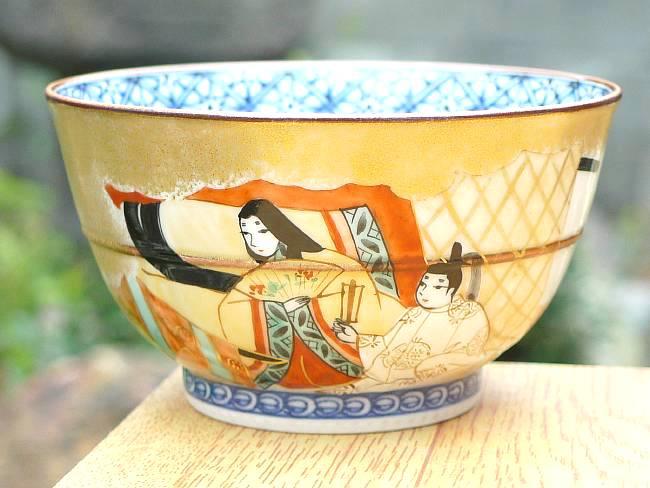 京焼  清水焼 源氏物語お茶呑茶碗 紅葉賀 単品