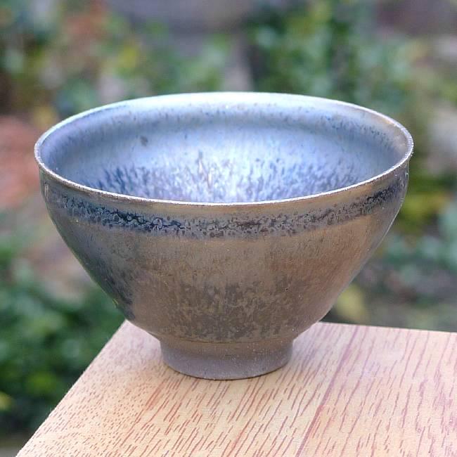 烟田曲清水陶窑变银浆液性天下烧瓶
