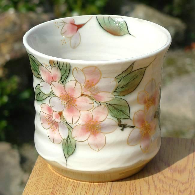 京焼  清水焼 桜焼酎杯 陶あん