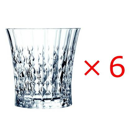 (6個販売) CRISTAL DARQUES(クリスタルダルク) レディダイヤモンド オールド 270 /エレガント 上品 煌びやか グラス ロックグラス パーティー おもてなし 誕生日 御祝 結婚祝い ギフト プレゼント