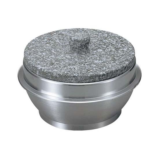 長水 遠赤 石焼ビビンバ器石焼釜 (石蓋付) アルミ枠付 20cm SSK01