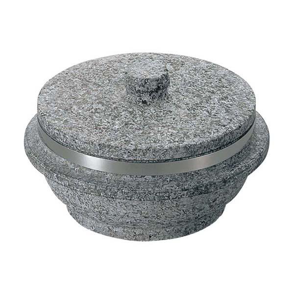 韓国長水郡の希少な天然石を使用遠赤外線効果で素材の旨みを逃がさない 長水 遠赤 石焼釜石蓋付 SSK01 補強リングあり 新発売 いつでも送料無料 20cm