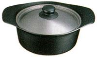 柳宗理 南部鉄器 鉄鍋 深型 22cm ステンレスフタ付き