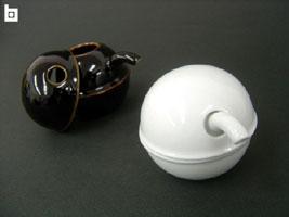 线控制动好熟食店和圆形设计白山瓷 C 酱油酱锅