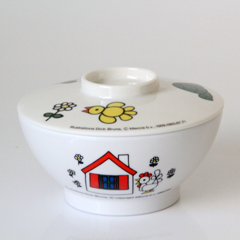 Tableware (melamine) miffy bowl (with a cover) of child