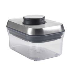 OXO pop container rectangle mini stainless steel