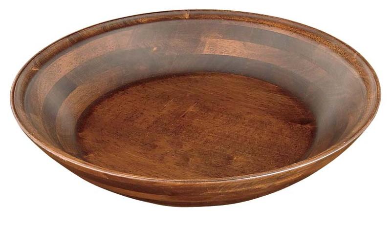 [TKG16-1504] 木製 特大丸鉢ベース 古代色 45015