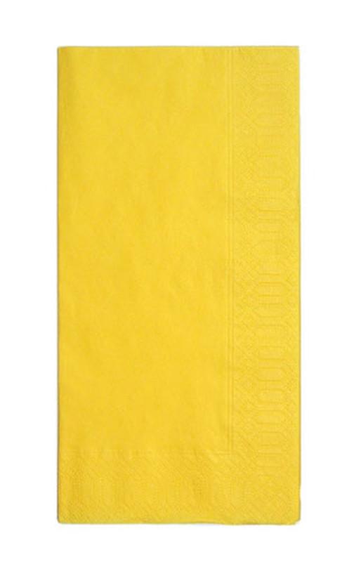 [TKG16-1402] カラーナプキン 8ッ折(2,000枚入) 45cm2Pレモン