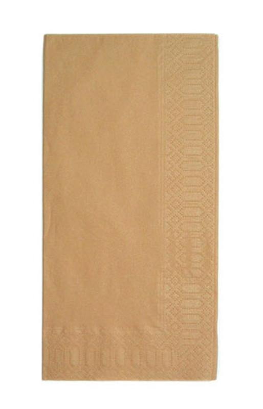 [TKG16-1402] カラーナプキン 8ッ折(2,000枚入) 45cm2Pブラウン