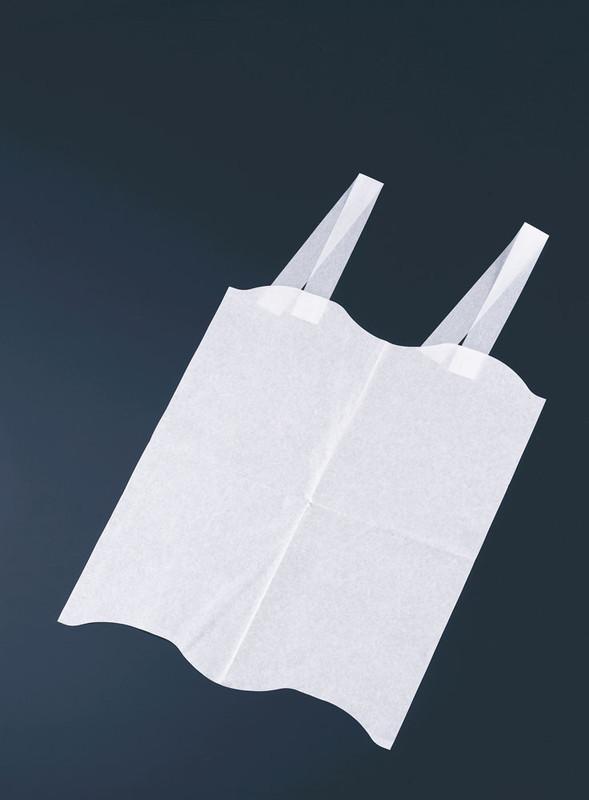 [TKG16-1332] 使い捨て エルフエプロン 4折紙タイプ (2000枚入)