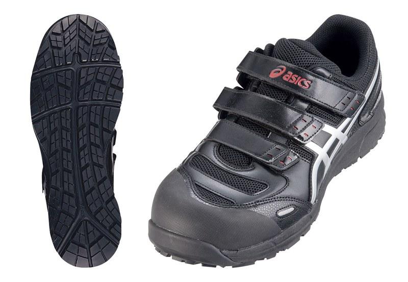 アシックス ウィンジョブ安全靴CP102 BK×シルバー25.0cm 7-1369-0703 安全靴