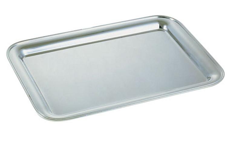 [TKG16-1567] 真鍮ブラスシルバー角盆 32インチ ※受注生産