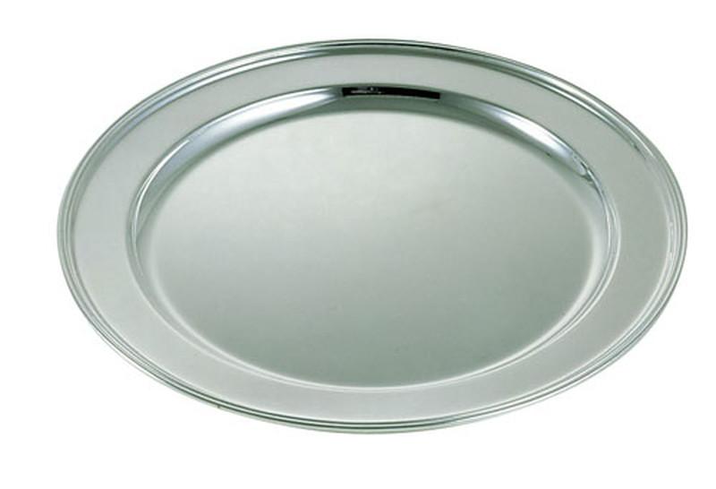 [TKG16-1567] 真鍮ブラスシルバー丸肉皿 28インチ ※受注生産