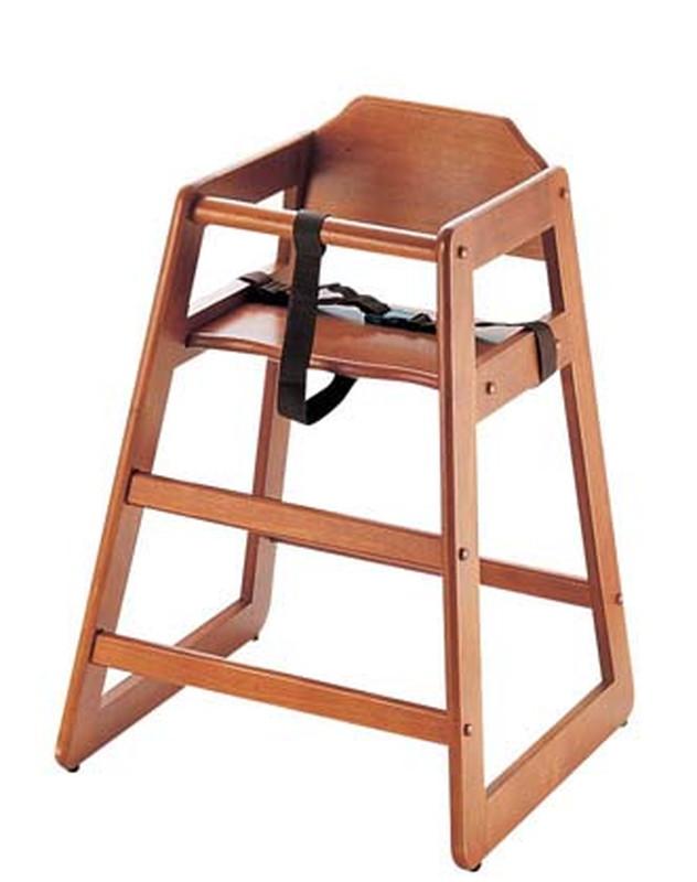 [TKG16-2267] 木製子供用ハイチェアー(スタッキング式) チェリー