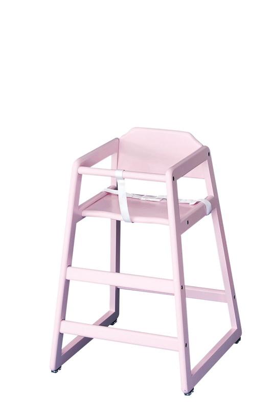 木製子供用ハイチェアー(スタッキング式) ピンク 7-2389-0202 チェア (TKG17-2389)