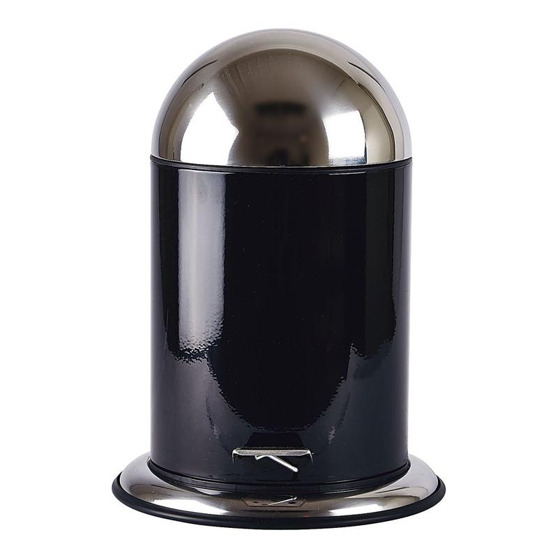 ZONE ゾーン ペダルビン 5L 252551ブラック 7-2361-1001 卓上ダストボックス (TKG17-2361)
