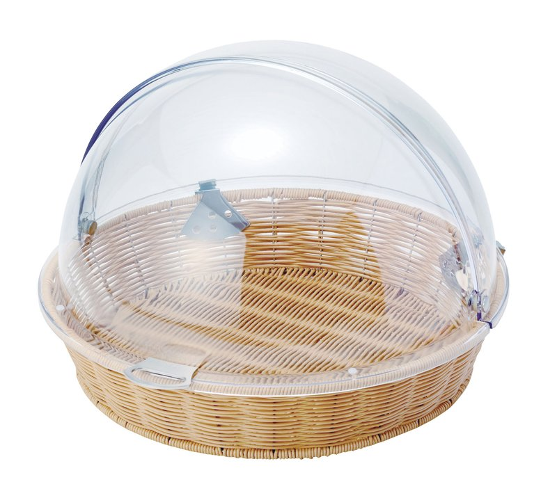 [TKG16-1563] PPベーカリーバスケット丸型47型 カバー付BB-413-IV