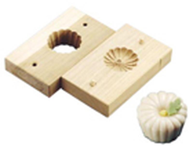 [TKG16-1042] 手彫物相型(上生菓子用)スクイ菊