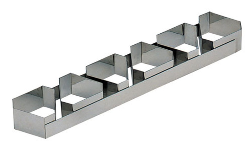 [TKG16-0950] 18-10ケーキリング 三角B型 6連3129-99