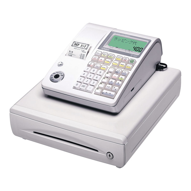 [TKG16-2378] カシオ レジスター TE-400 (10部門)ホワイト