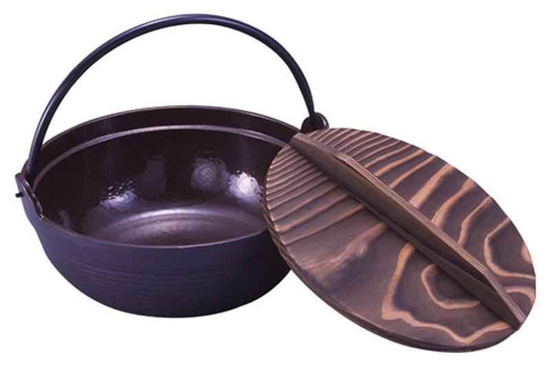 [TKG16-1945] IK電調専科 深型鍋(内茶ホーロー仕上) 30cm