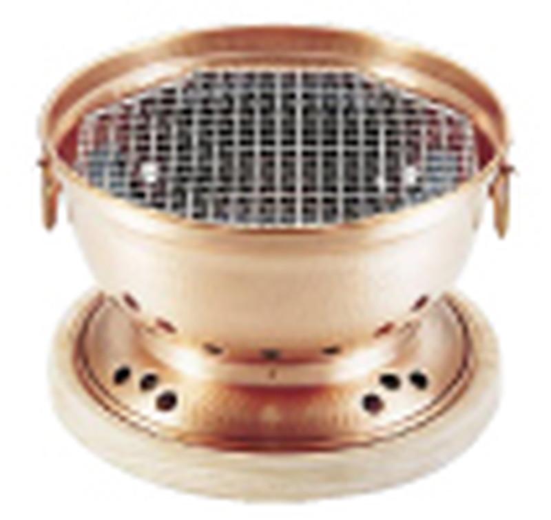 銅 炭用水コンロ(台付) 7-2031-1601 炭焼器(コンロ) (TKG17-2031)