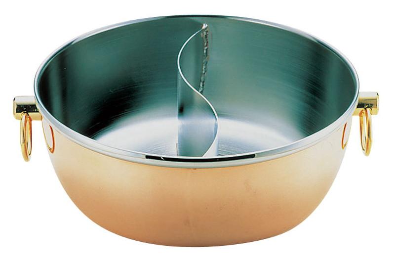 ロイヤル クラデックス しゃぶしゃぶ鍋 銅メッキCQCW-240SC 7-1996-1201 しゃぶしゃぶ鍋 (TKG17-1996)