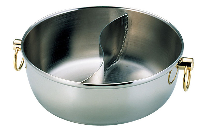 ロイヤル クラデックス しゃぶしゃぶ鍋 CQCW-240S(中仕切付) 7-1996-1101 しゃぶしゃぶ鍋 (TKG17-1996)