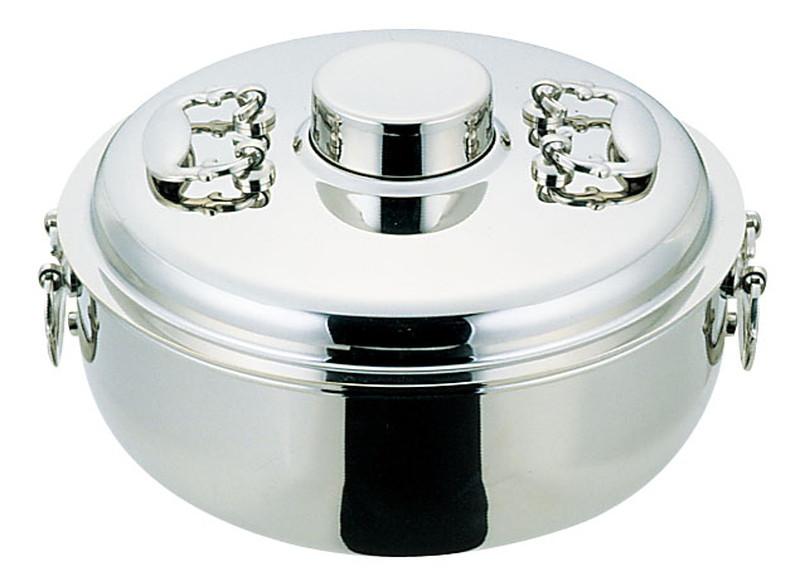 NS18-8 電磁専用しゃぶしゃぶ鍋 24cm 7-1995-1001 しゃぶしゃぶ鍋 (TKG17-1995)