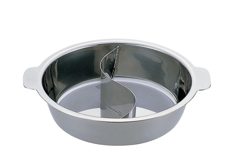 [TKG16-1926] UKチリ鍋 (2仕切・蓋なし) 33cm(18-0・電磁対応)