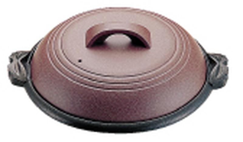 アルミ陶板鍋素焼き茶 横綱 42cm M10-541 7-2012-1301 陶板鍋 (TKG17-2012)
