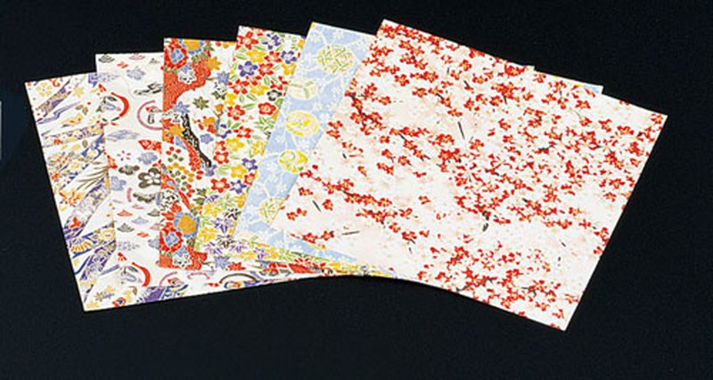 千代紙セット(200枚×6柄入) M33-132 7-2088-0105 懐紙(懐敷紙) (TKG17-2088)