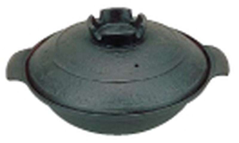 五進 鉄 寄せ鍋 (内面茶ホーロー仕上) 30cm 7-1989-0904 寄せ鍋 (TKG17-1989)