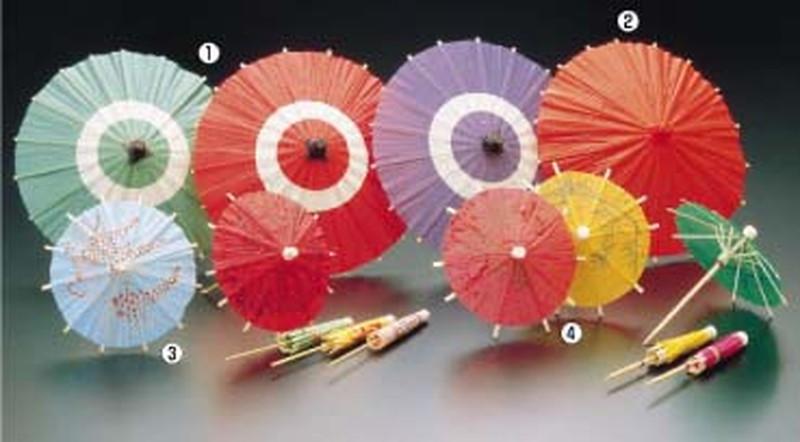 蛇ノ目傘B(100入) 中朱 7-2077-0202 ピック(飾り楊枝) (TKG17-2077)