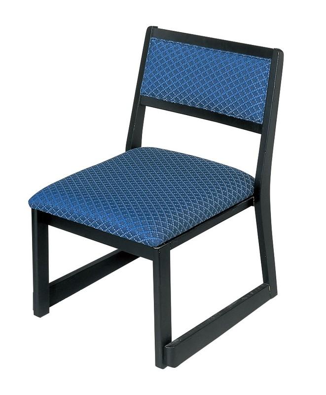[TKG16-2288] 木製都高座椅子 新雅(布)フレーム黒 12017585