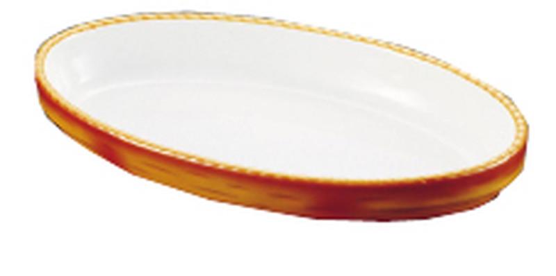 [TKG16-2081] シェーンバルド オーバルグラタン皿 茶 3011-32B