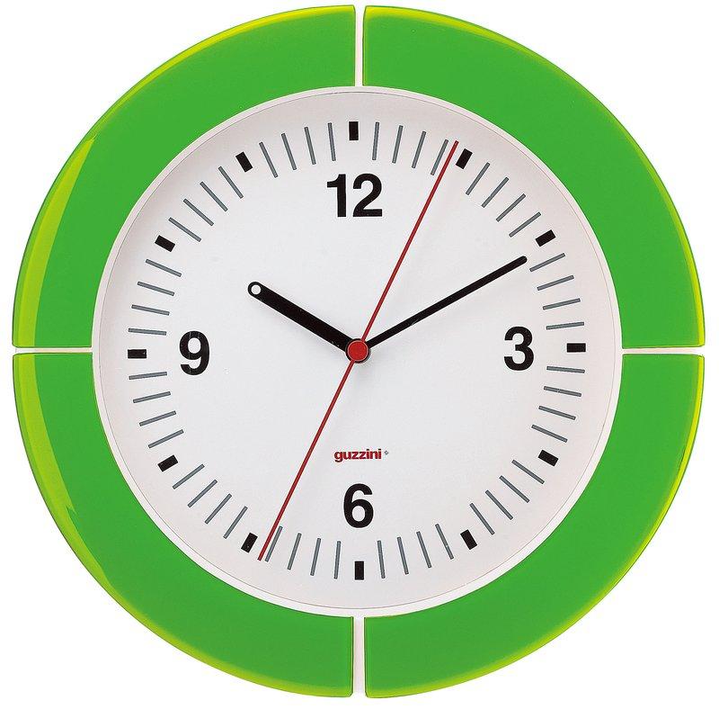 guzzini グッチーニ ウォールクロック 2895.0044グリーン 7-2502-0803 掛時計 (TKG17-2502)