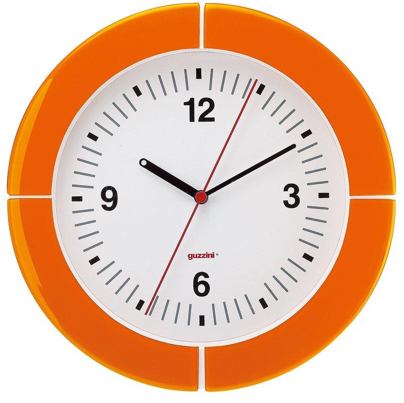guzzini グッチーニ ウォールクロック 2895.0045オレンジ 7-2502-0804 掛時計 (TKG17-2502)